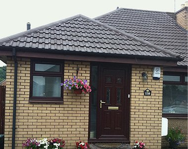 brick house and tiled roof